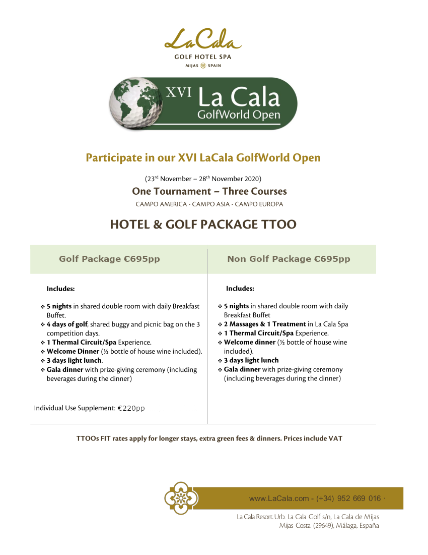 XVI La Cala Golf World Open 2020